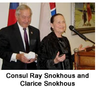 Consul Ray Snokhous and Clarice Snokhous