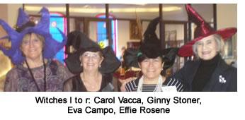 Witches left to right: Carol Vacca, Ginny Stoner, Eva Campo, and Effice Rosene