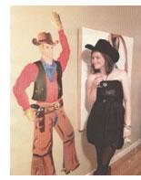 Sarah with cowboy painting